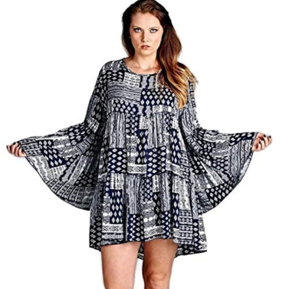 Tunic Dress Plus Size 1XL ,2XL Boutique